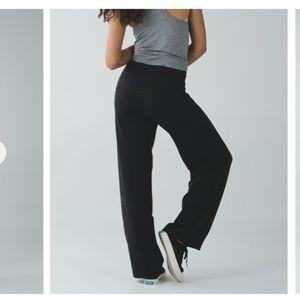 Lululemon Stillness black yoga pants size 4